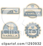 Clipart Of A Set Of Vanilla Flavor Labels Royalty Free Vector Illustration