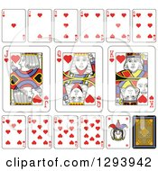 Clipart Of A Layout Of A Hearts Playing Card Suit Royalty Free Vector Illustration