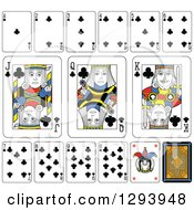 Layout Of A Clubs Playing Card Suit
