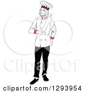Clipart Of A Playing Card Suit Character Of A King Chef Holding A Rolling Pin Royalty Free Vector Illustration