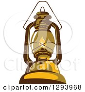 Clipart Of A Retro Kerosene Lamp Royalty Free Vector Illustration by patrimonio