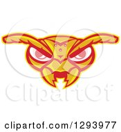 Clipart Of A Retro Angry Hornet Face Royalty Free Vector Illustration