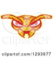 Retro Angry Hornet Face