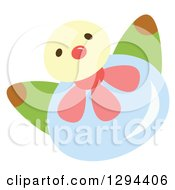 Clipart Of A Cute Happy Water Drop Character With Flower Petals Royalty Free Vector Illustration by Cherie Reve