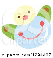 Clipart Of A Cute Happy Water Drop Character Royalty Free Vector Illustration by Cherie Reve