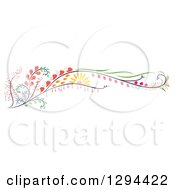 Clipart Of A Beautiful Colorful Flower Swirl Design Element Royalty Free Vector Illustration
