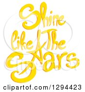 Clipart Of Yellow Shine Like The Stars Text Royalty Free Vector Illustration