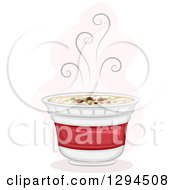 Clipart Of A Steamy Hot Cup Of Instant Ramen Noodles Royalty Free Vector Illustration by BNP Design Studio