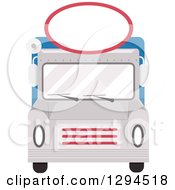 Clipart Of A Front View Of A Food Truck With A Blank Oval Sign Royalty Free Vector Illustration by BNP Design Studio