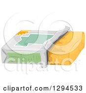 Clipart Of A Tub Of Butter Royalty Free Vector Illustration