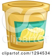 Clipart Of A Tub Of Margarine Butter Royalty Free Vector Illustration