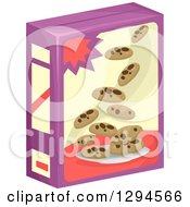Clipart Of A Product Box Of Chocolate Chip Cookies Royalty Free Vector Illustration