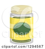 Clipart Of A Jar Of Dried Herb Spices Royalty Free Vector Illustration by BNP Design Studio