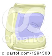 Clipart Of A Flour Sack With A Blank Label Royalty Free Vector Illustration
