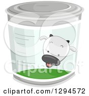 Clipart Of A Cow On A Can Of Milk Royalty Free Vector Illustration by BNP Design Studio
