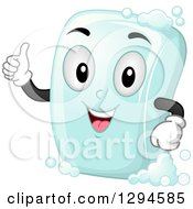 Clipart Of A Happy Cartoon Soap Bar Character Giving A Thumb Up Royalty Free Vector Illustration by BNP Design Studio
