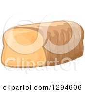 Clipart Of A Bread Loaf With Trimmed End Royalty Free Vector Illustration