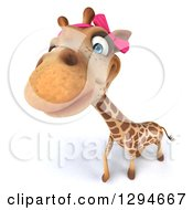 Clipart Of A 3d Female Giraffe Looking Upwards Royalty Free Illustration by Julos