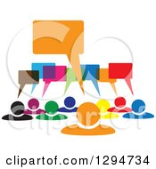Clipart Of A Group Of Colorful People With Speech Balloons Royalty Free Vector Illustration