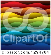 Clipart Of A Background Of 3d Colorful Layers Of Paper Forming Rainbow Colored Waves 2 Royalty Free Vector Illustration by ColorMagic