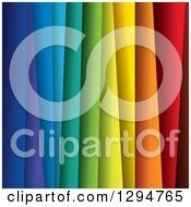 Clipart Of A Background Of 3d Layers Of Rainbow Colored Paper Royalty Free Vector Illustration