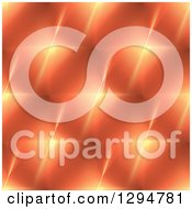 Clipart Of A Background Pattern Of Orange Fractal Stars Shining Royalty Free Illustration