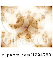 Clipart Of A Reflective Glass Globe With Brown Fractals Royalty Free Illustration
