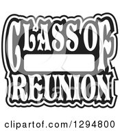 Clipart Of A Black And White Class Of Blank High School Reunion Design Royalty Free Vector Illustration