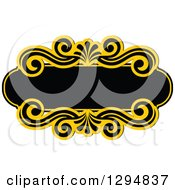 Black And Yellow Floral Frame 25
