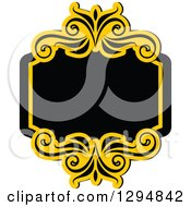 Black And Yellow Floral Frame 6
