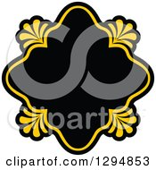 Black And Yellow Floral Frame 15