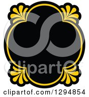 Black And Yellow Floral Frame 16