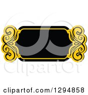 Black And Yellow Floral Frame 2