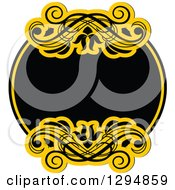 Black And Yellow Floral Frame 20