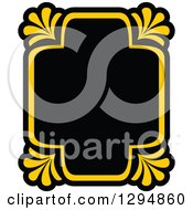 Black And Yellow Floral Frame 21
