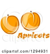 Clipart Of Two Apricots Over Text Royalty Free Vector Illustration