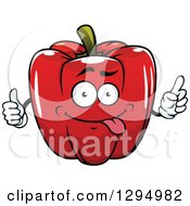 Clipart Of A Cartoon Goofy Red Bell Pepper Character Royalty Free Vector Illustration