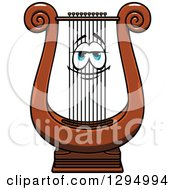 Cartoon Lyre Instrument Character