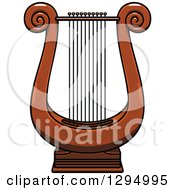 Clipart Of A Cartoon Lyre Instrument Royalty Free Vector Illustration