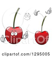 Clipart Of A Face Hands And Cartoon Cherries Royalty Free Vector Illustration