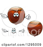 Clipart Of A Face And Cartoon Hazelnuts Royalty Free Vector Illustration