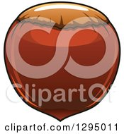 Clipart Of A Cartoon Hazelnut Royalty Free Vector Illustration by Vector Tradition SM