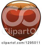Clipart Of A Cartoon Hazelnut Royalty Free Vector Illustration