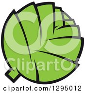 Clipart Of A Cartoon Green Artichoke Royalty Free Vector Illustration by Vector Tradition SM