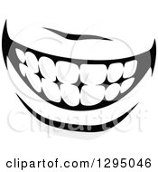 Clipart Of A Grayscale Mouth Showing Teeth 3 Royalty Free Vector Illustration by Vector Tradition SM