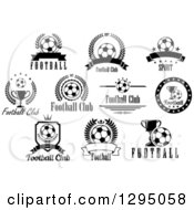 Black And White Football Club Soccer Designs