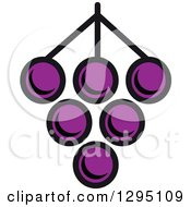 Clipart Of A Cartoon Bunch Of Purple Grapes 2 Royalty Free Vector Illustration by Vector Tradition SM