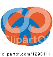 Clipart Of A Blue And Orange Person Royalty Free Vector Illustration