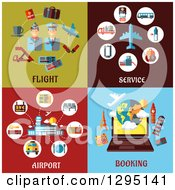 Clipart Of Flat Design Travel Icons Royalty Free Vector Illustration by Vector Tradition SM