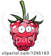 Clipart Of A Goofy Raspberry Character Royalty Free Vector Illustration